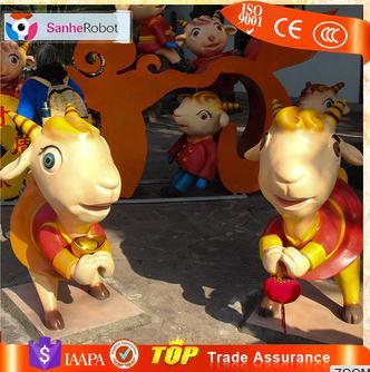 Sanhe best selling cute cartoon Fiberglass figure,fibre figuren,frp figurines