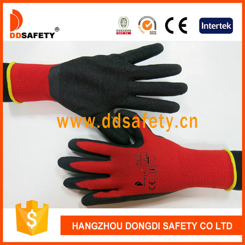 Red nylon with black latex glove-DNL111