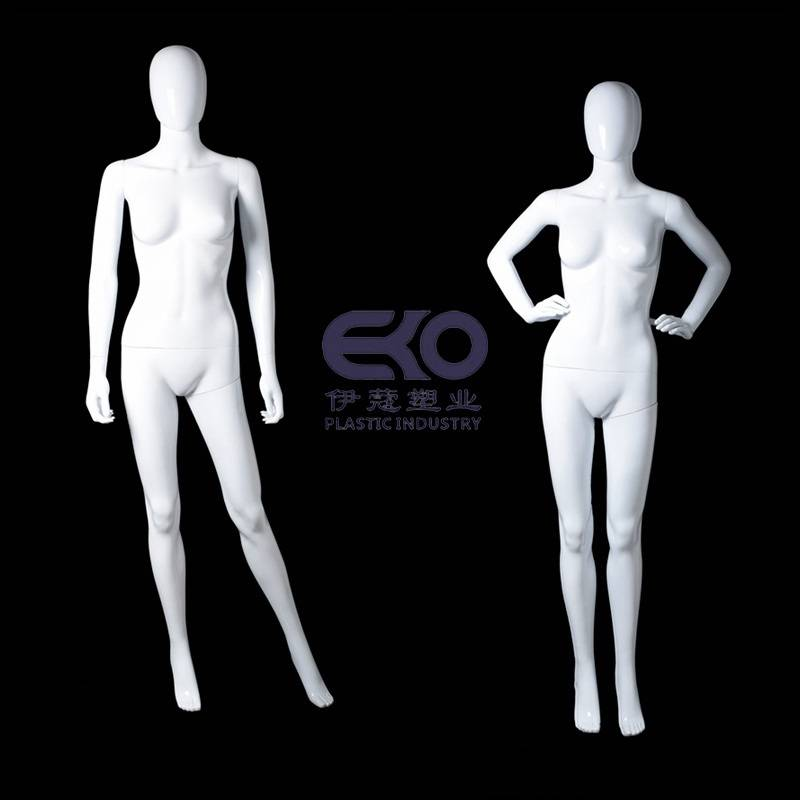 Eco-friendly PP plastic female&male Mannequin