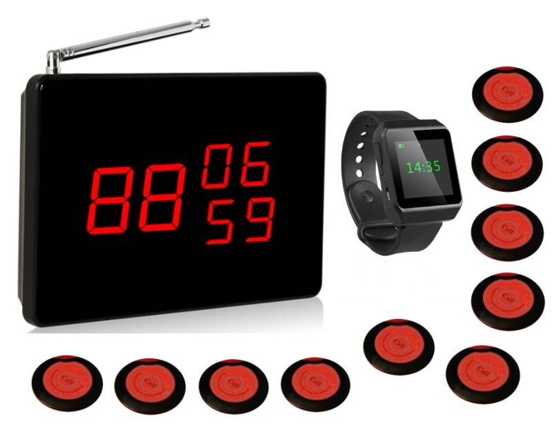 Wireless calling system, restaurant/cafe waiter call, pager system, bell watch