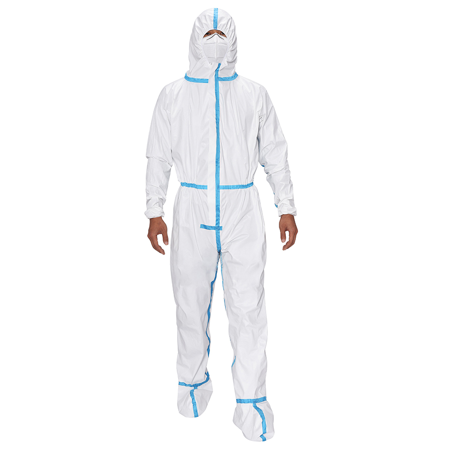 Disposable Medical Protective Clothing with hood and shoe coverall