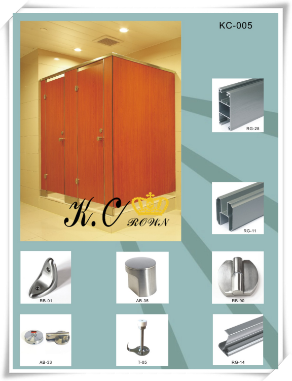 304 Stainless Steel HPL Toilet Partition Parts