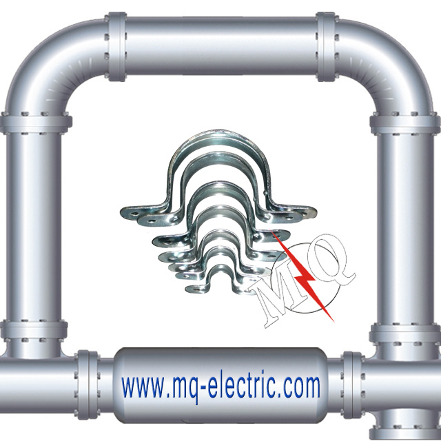 Electrical Galvanized Clamp IMC Conduit Two Holes Steel Strap