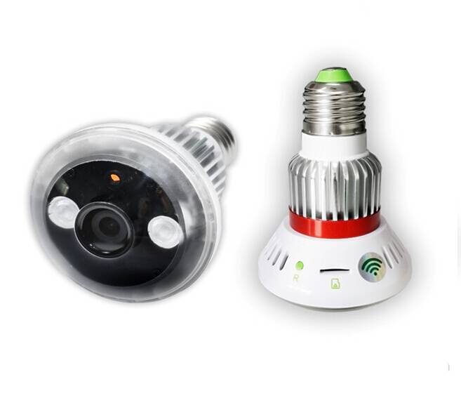 Wireless Bulb-shaped Wifi Camera with Night Vision and Motion Dection