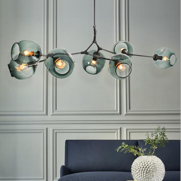 Dutti D0002 LED Chandelier Copper Nordic for Living Room Restaurant Lights Bedroom Magic Beans Light