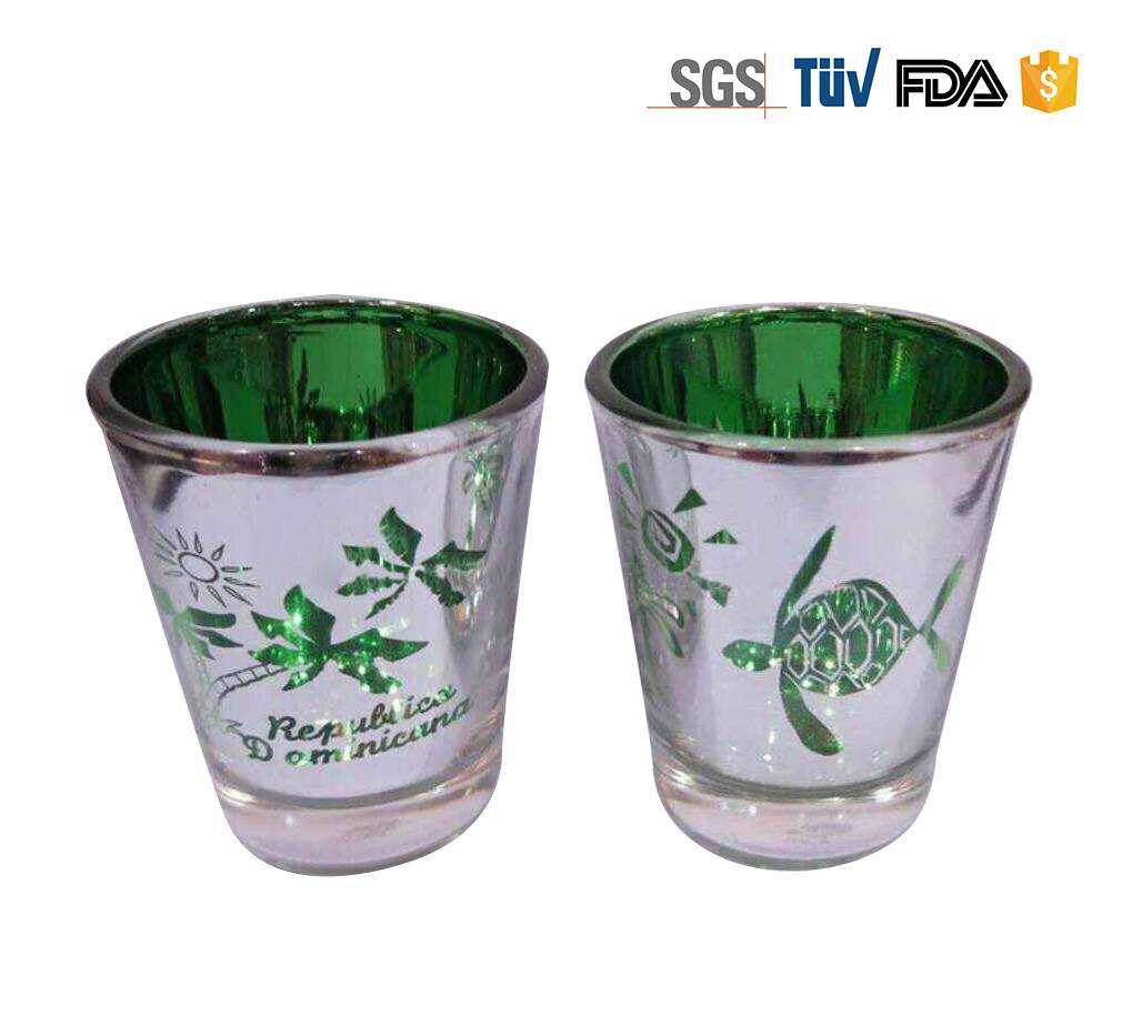 2oz Electroplate Laser Cut  Shot Glass