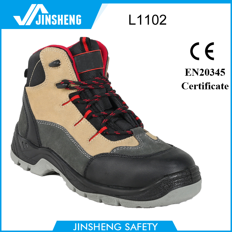 anti-puncture construction suede leather safety shoes