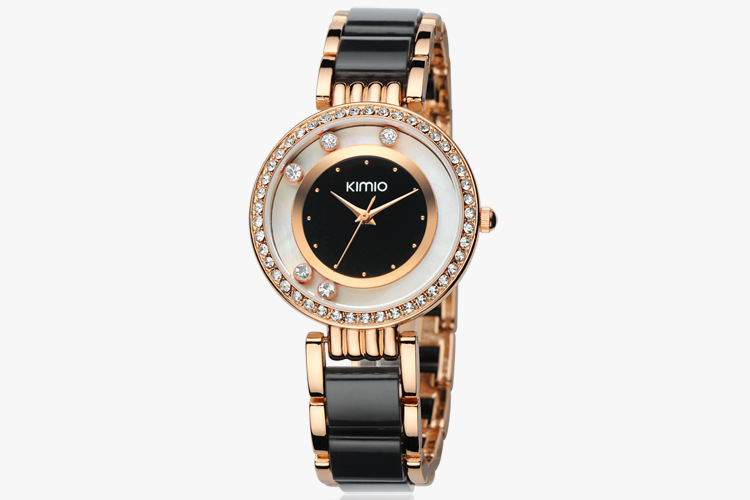 Ladies waterproof high quality alloy watches womens diamond brief wrist watches