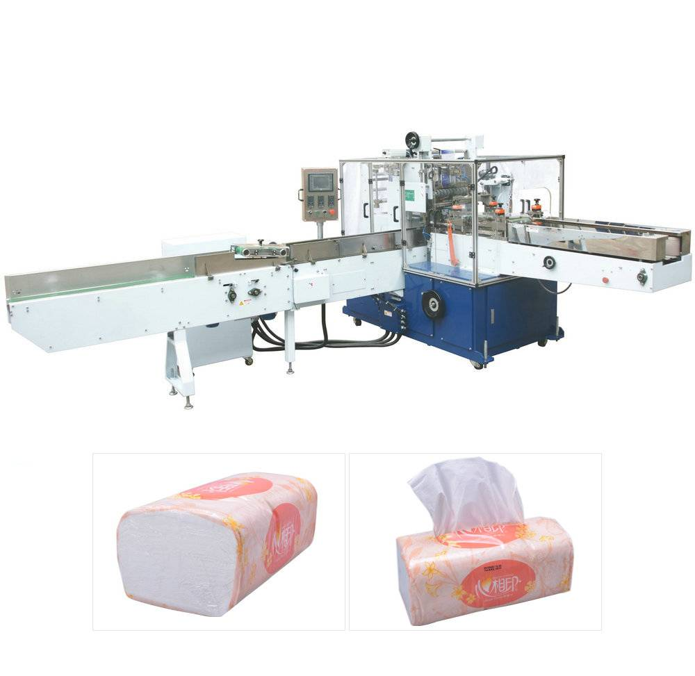 Soft bag facial tissue packing machine