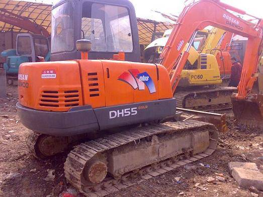Used Daewoo Mini Excavator DH55-7with good price