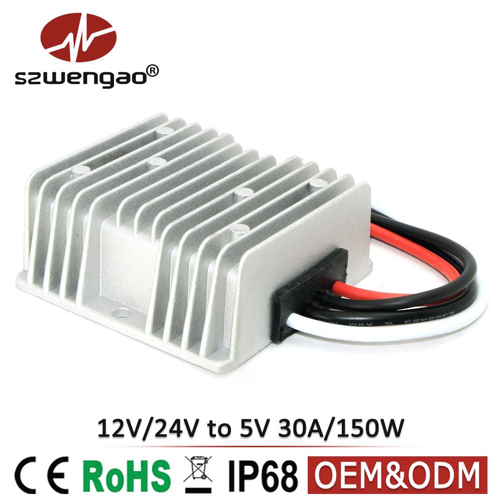 Dc Buck Converter 12v 24v To 5v 30a 150w Led Power Supply Driver Circuit Manufacturer For Lights View