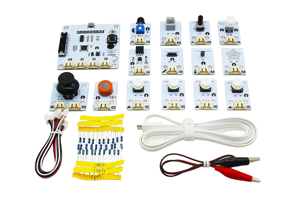 Ruilongmaker Picoboard Upgrade Kit Scratch sensor board for Kids compatible with Raspberry Pi