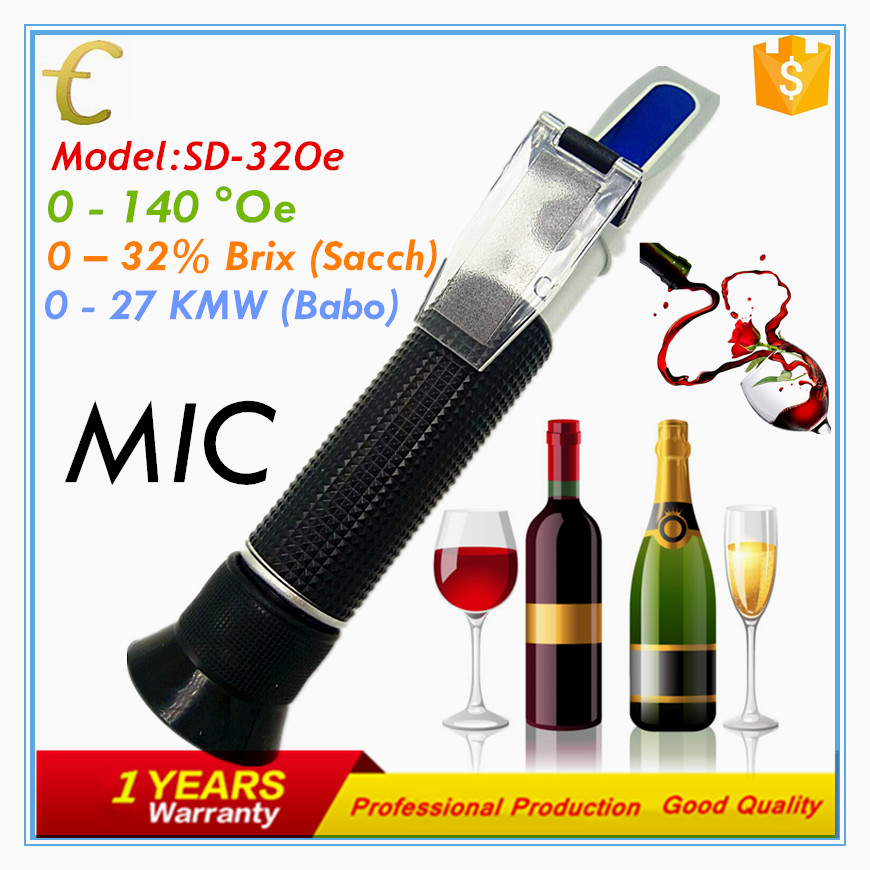 Portable 32 Oe wine refractometer with ATC