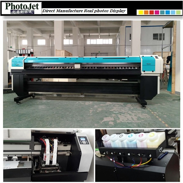 Double print head Wide format Solvent uv printer machine