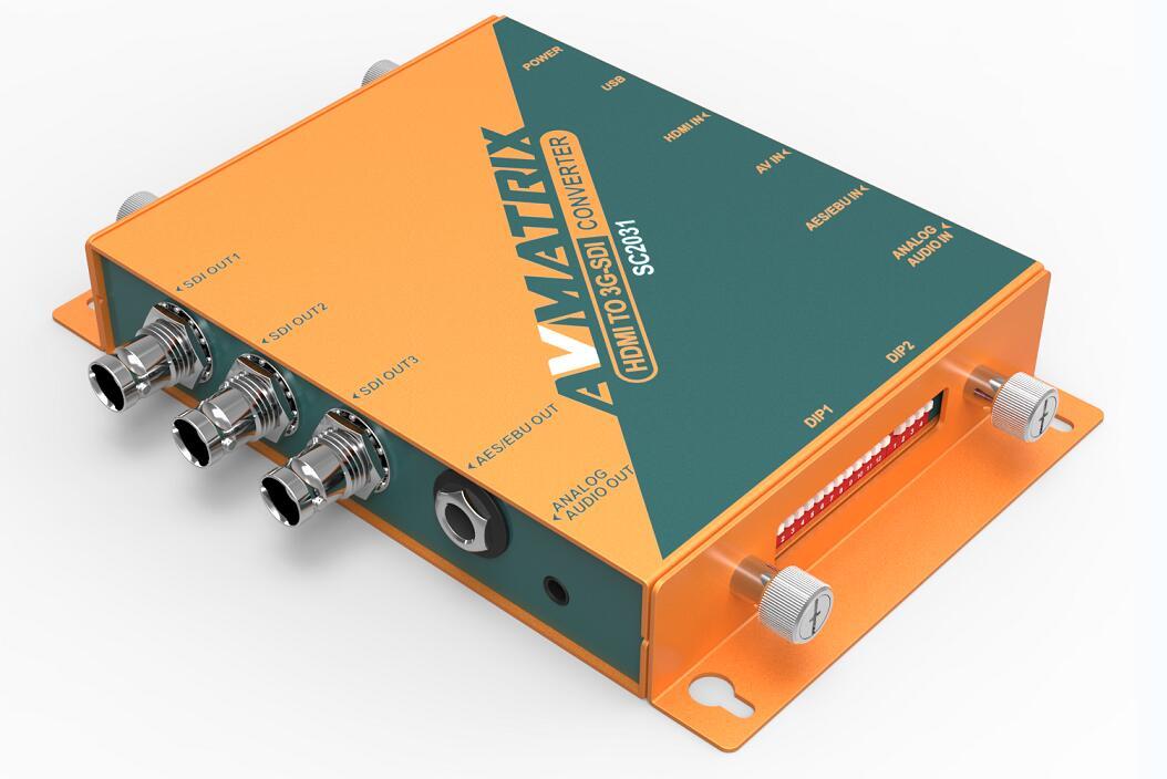 AVMATRIX Scaler Converter for HDMI / AV To SDI SC2031