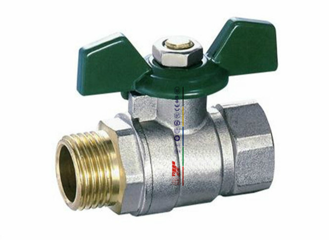 Butterfly Handle Brass Ball Valve Nickel Plated(Art. T01046)