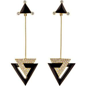Hanut Singh Deco Triangle Drop Earrings