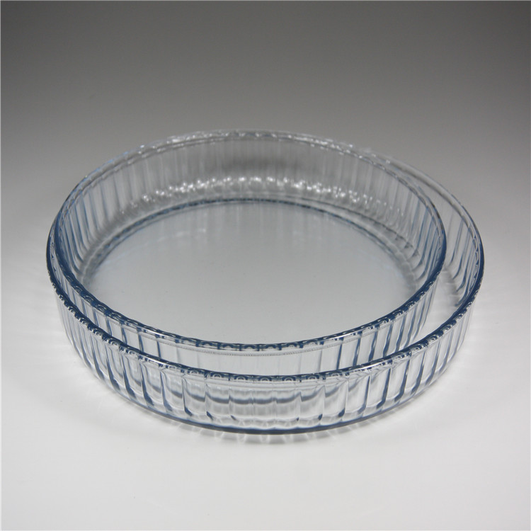 Round Pie Dish Glass Baking/Round glass baking pie dishes