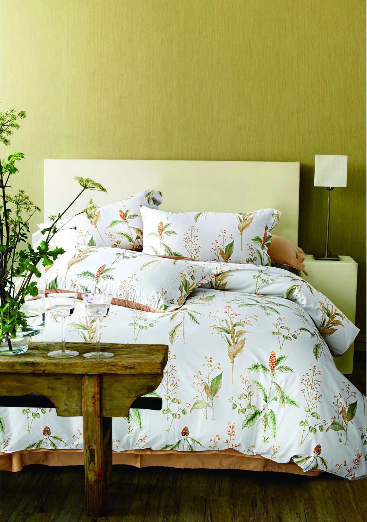 Premium 100% cotton French floral bed linen- CRMMS0021