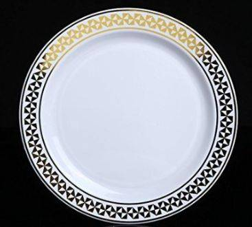 Bpa-free indoor table plastic dinner plate
