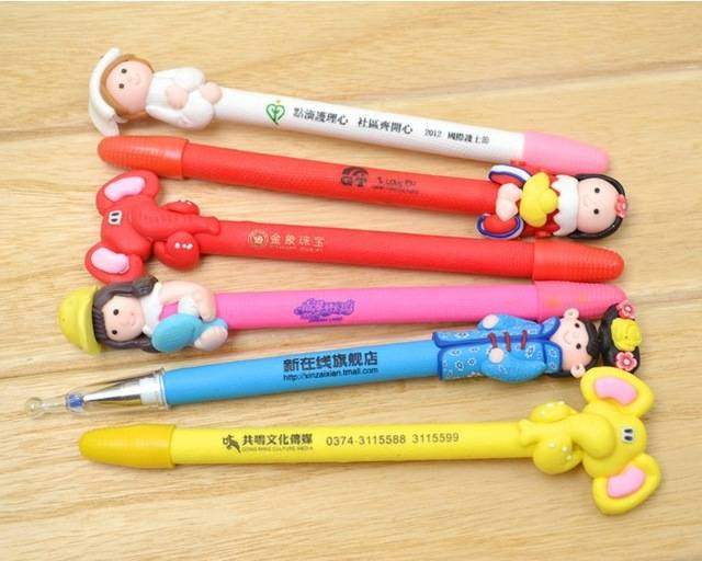 FREE PRINT creative cartoon ballpoint pen advertising gift pen modeling clay pen novelty items