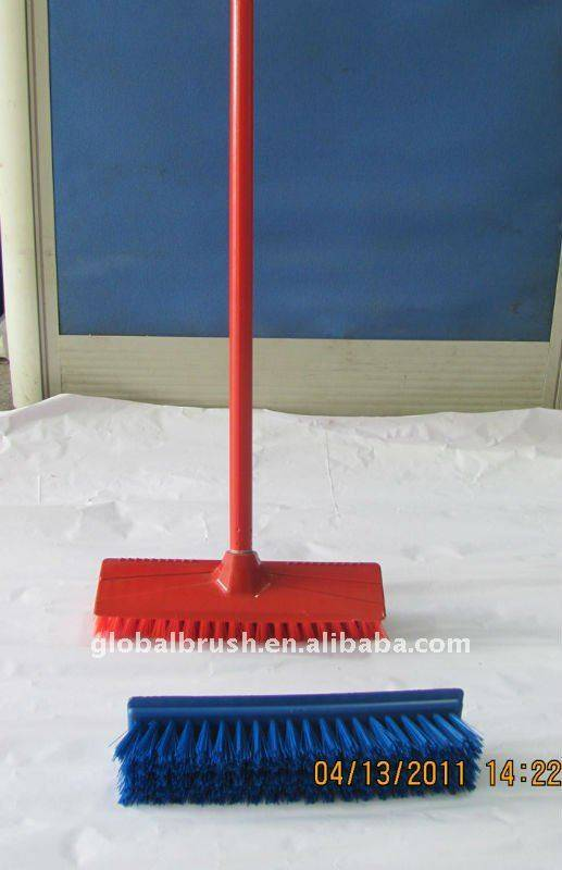 HQ0007 PP household brush/floor brush/outdoor broom  With long handle set