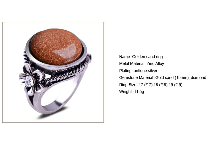 Golden sand Ring/CT-R0008