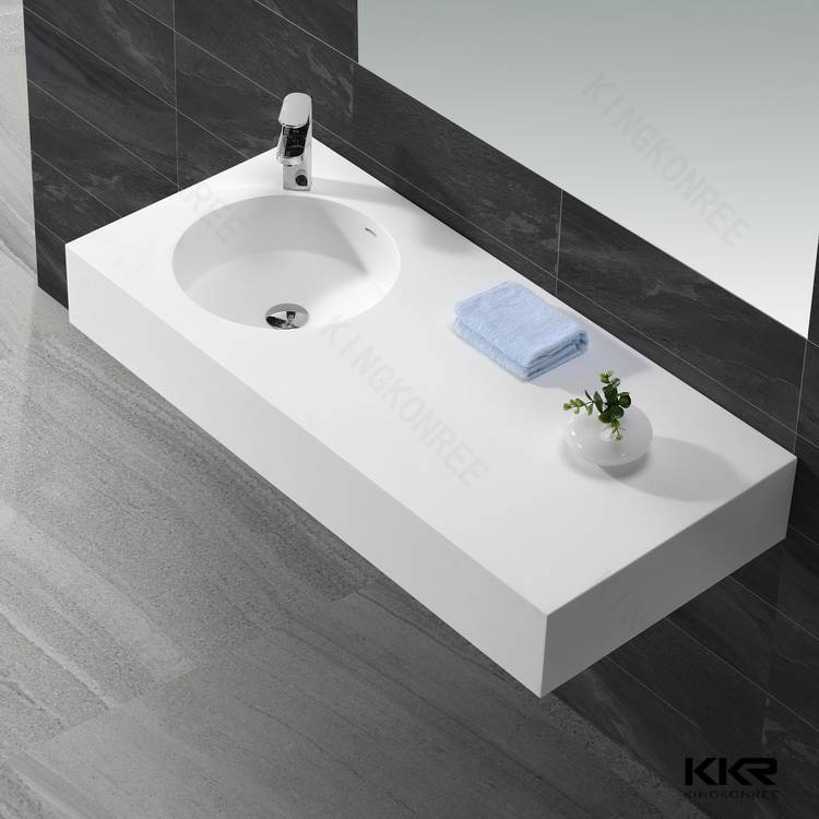 KKR artificial stone resin basin solid surface bathroom sink