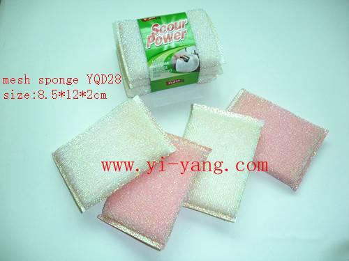 mesh scrub sponge