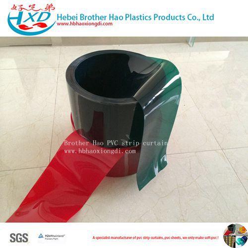 Welding Dark Red 3mm Thick PVC Vinyl Plastic Strip Door Curtain