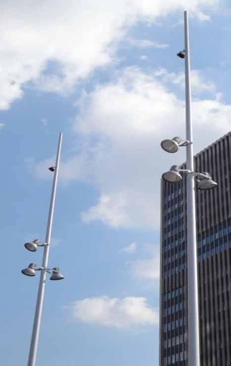Aluminum Decorative Garden Lamp Pole