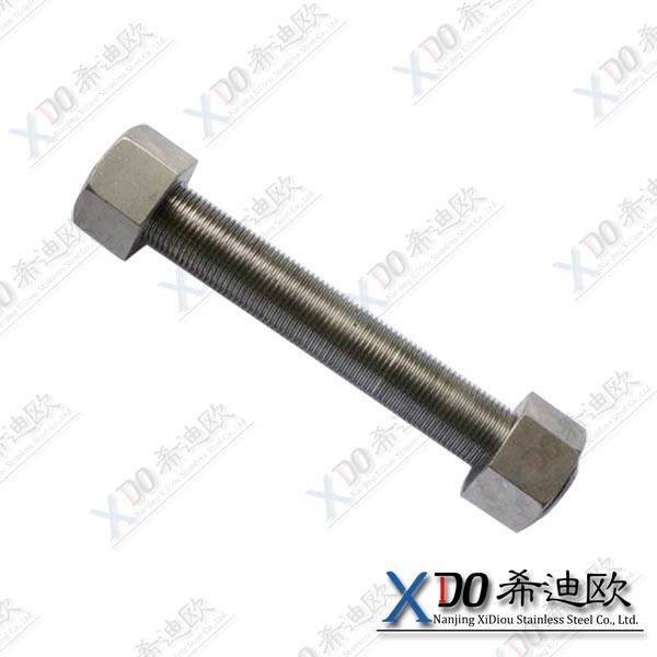 duplex 2507 China hardware din standard stainless steel full thread bolt