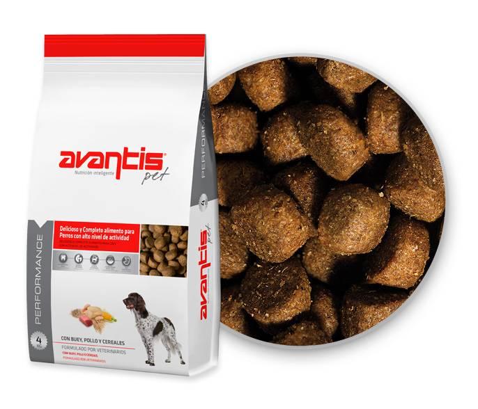 Avantis Performance pet food for high activity dogs