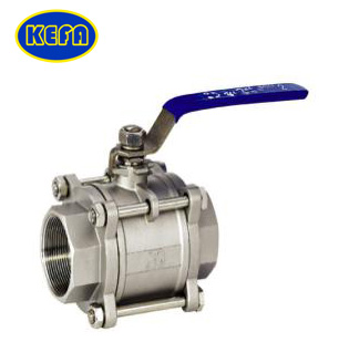 Three-piece type ball valve