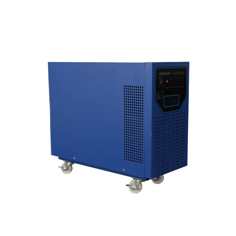 4000W 48V DC to 110v 230v AC Low Frequency Hybrid Solar Inverter with Wheels, LCD Display