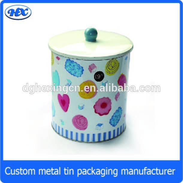 Hot design sepcial lid airtight cookie tin box, decorative tin boxes