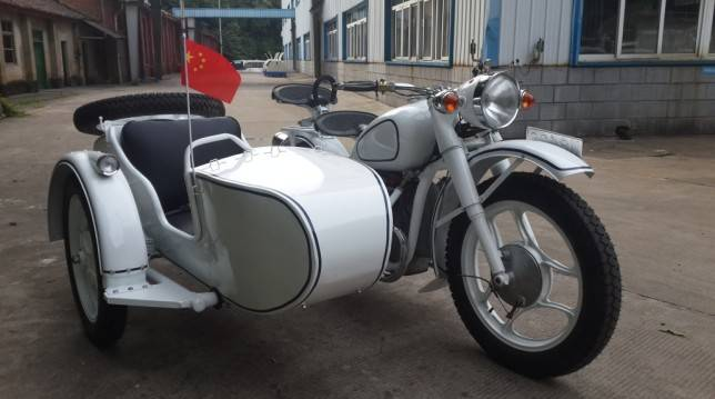 Customized 750cc Motorcycle Sidecar with White Color