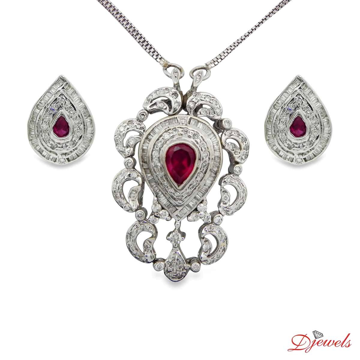 Diamond Pendant Set Dominula