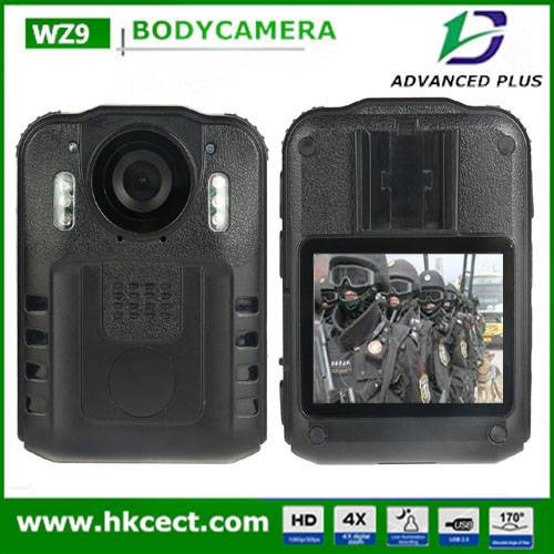 WZ9 Waterproof CCTV Camera Auto-Night-Vision Encrypted Russian Language wireless Police Body Worn Ca