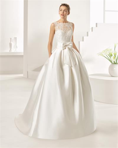2107 new design wedding dress with lace appliqued
