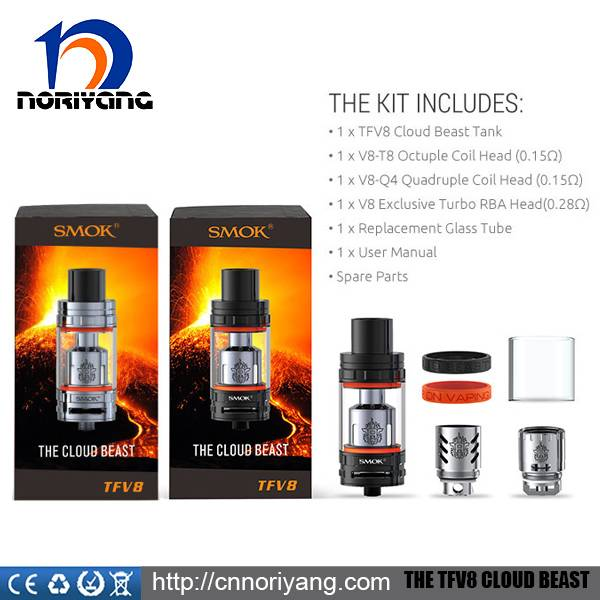 SMOKTECK 100% Original Vapor The Cloud Beast 5.5ml with T8-V8 6ml with T8-Q4 Coils TFV8