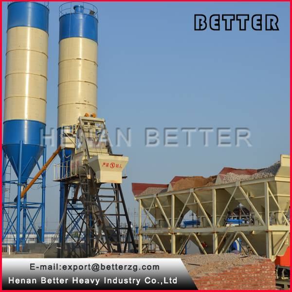Skip-type concrete batching plant for sale/concrete mixing plant price