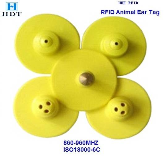30X16mm UHF Animal Tracking Ear Tag (HDT)