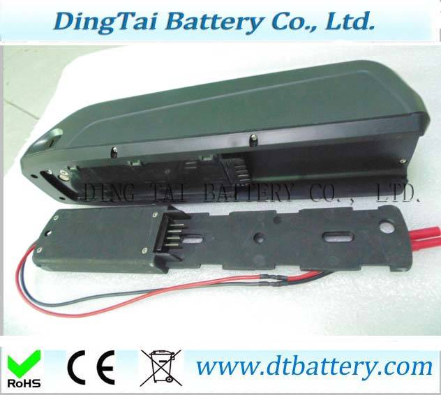 High capacity Hailong down tube electric bicycle battery 36V 17Ah Lithium ion NCR18650B ebike batter