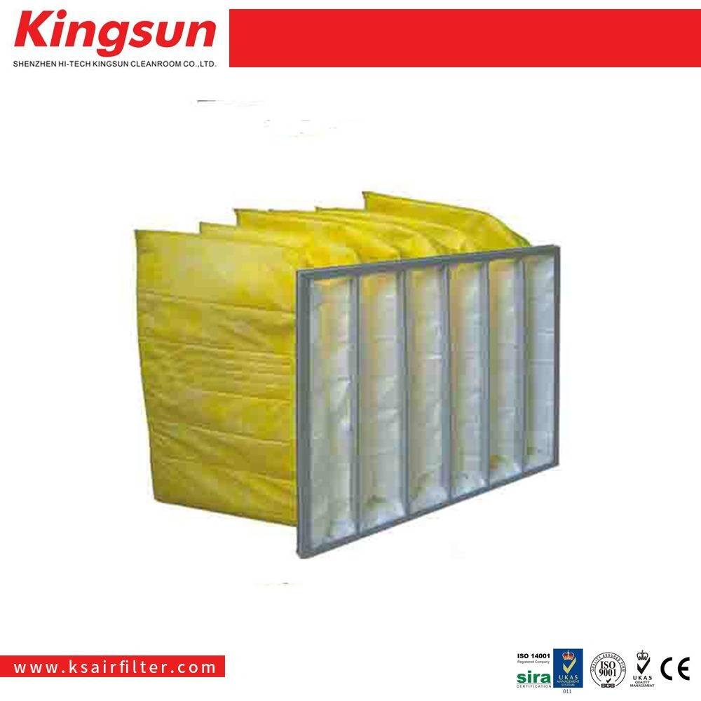 HVAC application non woven frame pocket filter f5