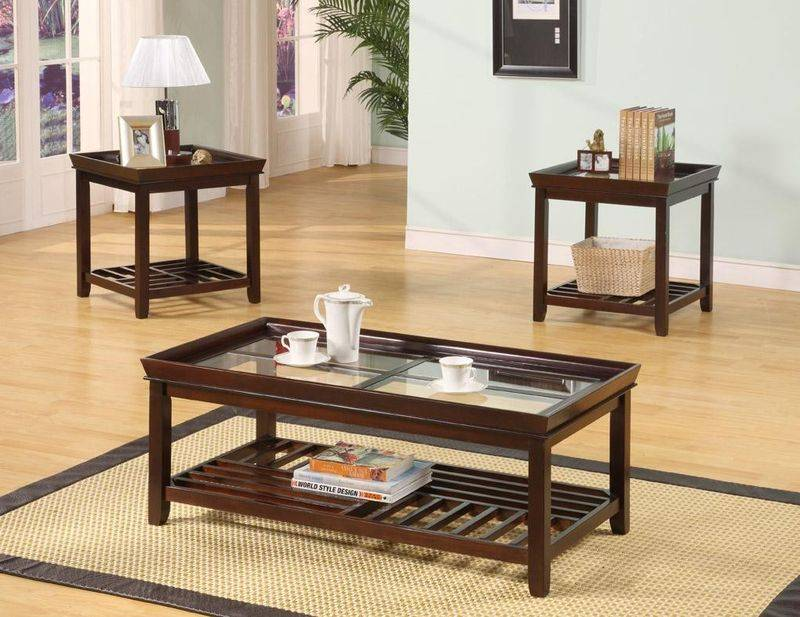 Fashion Solid Wood Coffee Table Set