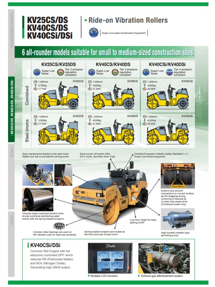 Ride-on vibratory rollers