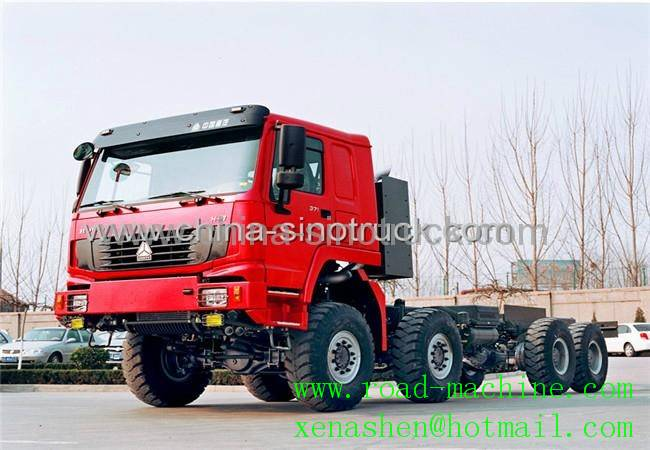 For sale SINOTRUK 8X8 ALL WHEEL-DRIVE TRACTOR TRUCK