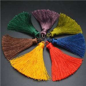 Silk Cotton Tassel Charm Pendant Jewelry Findings