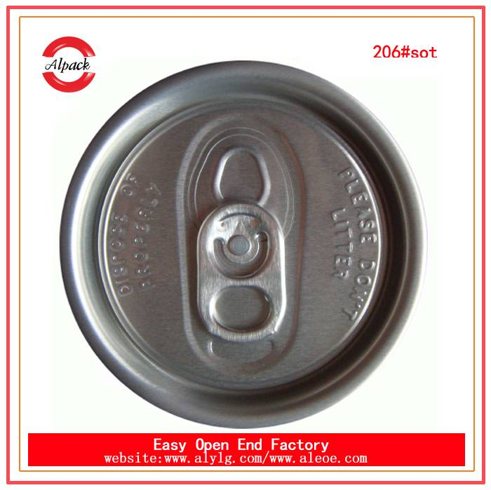 206#SOT can cap aluminum easy open end for beverage can packing